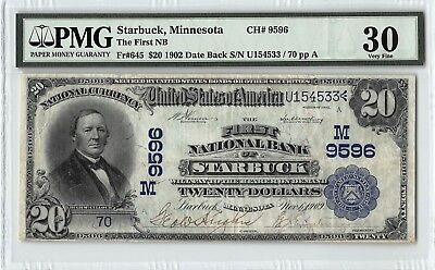 United States / First NB of Starbuck, MN 1902 DB Fr. 645 PMG Very Fine 20 $20