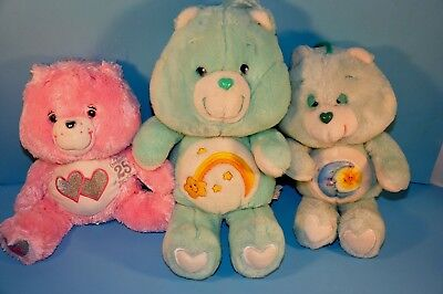 "2007 Love A Lot 25th Anniversary Bear Care Bears Toy Plush 12"" Swarovski Crystal"