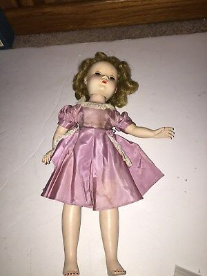 "14"" Madame Alexander vintage doll with tagged PINK DRESS & BLOOMERS"
