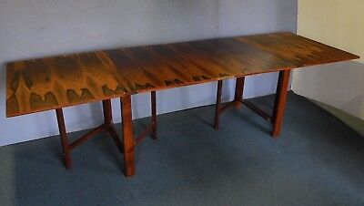 vtg dining table mid century modern danish rosewood maria dropleaf mathsson brun