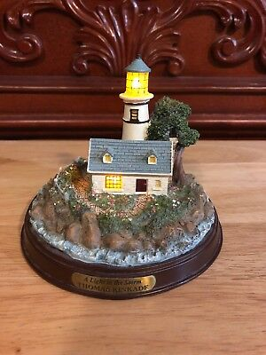"Thomas Kinkade ""A Light In The Storm"" Lighted Figurine"