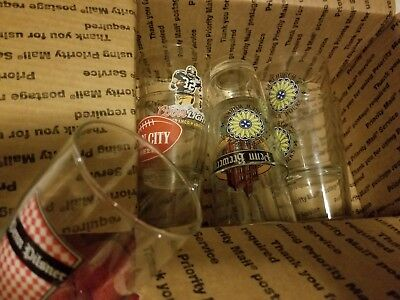 Penn Brewery Pint Beer Glass Pittsburgh PA  iron city Franco Harris lot 6