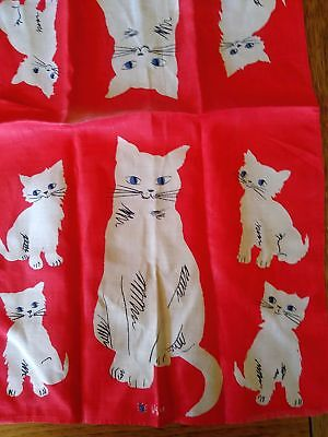 Cat and Kitten Hand Towel by Vera