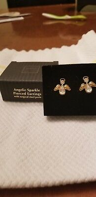 Avon Angelic Sparkle Pierced Earrings with Surgical Steel Posts