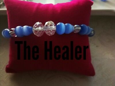 Code 442 The Healer Cat's Eye Infused bracelet relives Headache Sciatic Kidneys