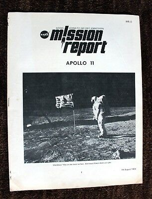 "Vintage Apollo 11 ""Mission report"" August 14 1969/ Original NASA publication"