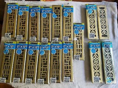 Lot 20 DECOR GRATES BRASS PLATED FLOOR REGISTERS ASSORTED BOX (Made in Canada)