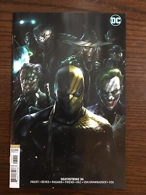 Deathstroke #36 Cover B Variant Francesco Mattina Htf Sold Out