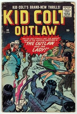 Kid Colt Outlaw #88 (Atlas/Marvel, January 1960) Raw – JACK KIRBY COVER!
