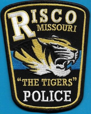 Risco Missouri Mo Police Dept The Tigers Rpd Pd Blue Line Local State (Fire)