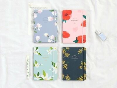 [2019 Gracebell Flower Blossom Diary] Undated Weekly Monthly Journal Planner