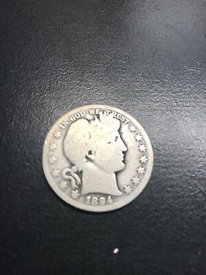 1894-O Barber Silver Liberty Half Dollar 90% Silver Coin - Raw Ungraded Poss G-
