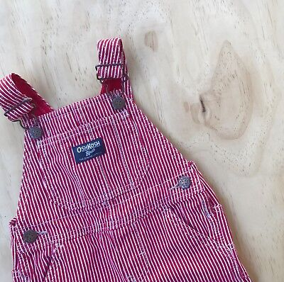 Oshkosh Overalls Vintage Stripe Red Denim Unisex Christmas