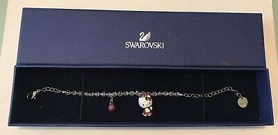 SWAROVSKI Crystal HELLO KITTY with LADYBUG Adjustable Length Bracelet In Box
