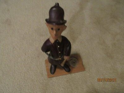 Vintage Romer Wood Carved Fireman from Italy
