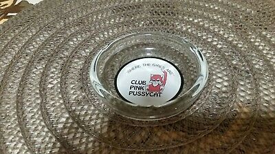 "Vintage"" Where The Girls Are"" Club Pink Pussycat ashtray."