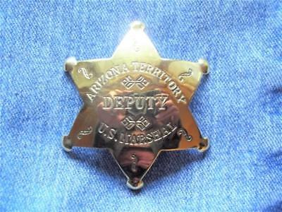 Brass Arizona Territory Deputy Us Marshal Star Badge Pin Old West Western