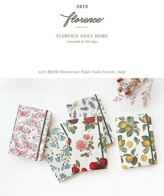 [2019 Florence Daily Diary] Dated Scheduler Journal Calendar Planner+Tracking No