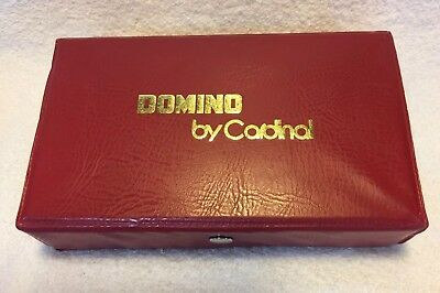 CARDINAL BAKELITE DOMINOES ORIGINAL Case BOX Vintage