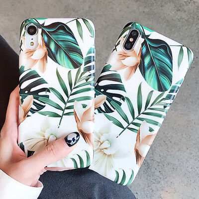 Banana Palm Leaf Soft Back Phone Case Cover For iPhone XS Max XR X 8 7 6S 6 Plus