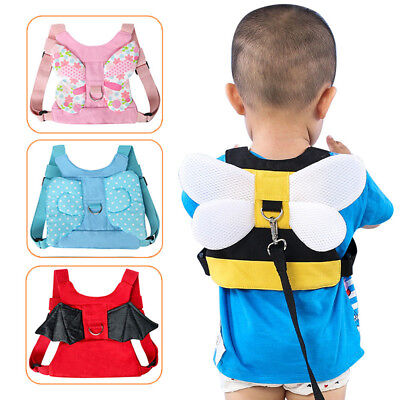 Anti-Lost Walking Safety Harness w/Leash Kids Belt Harness Assistant Strap -WE52