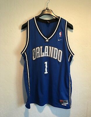 Vintage Nike Team Sports Tracy McGrady Orlando Magic Jersey Size XL NBA Blue 392615f89