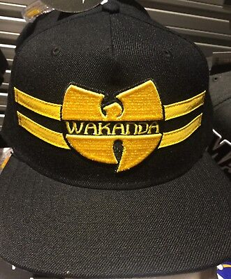 ec41f7e14 MARVELS BLACK PANTHER WU-TANG CLAN WAKANDA SnapBack Hat. NWT. One Size Fits  All