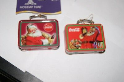 2004 Coca Cola Vintage Looking Miniature Lunch Boxes New Christmas Ornaments 2)