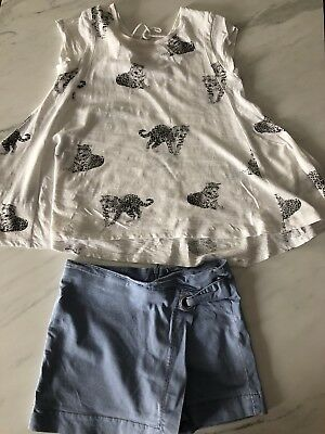 Witchery Girls Size 12 Skirt/shorts And Size 12 Witchery Top Excellent Condition
