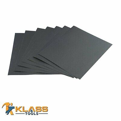 220 Grit Silicon Wet/Dry Sandpaper 9 x 11 in Sheets Lot of 5-250 Units