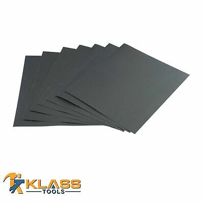400 Grit Silicon Wet/Dry Sandpaper 4-1/2 x 5-1/2 in Sheets Lot of 12 - 500 Units