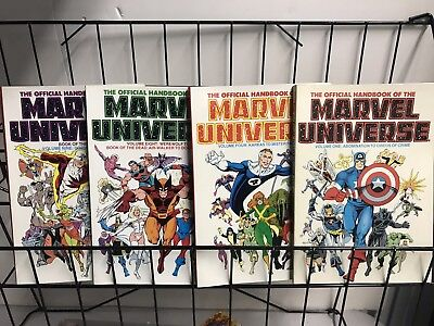 Lot Of 4 Official Handbook Of The Marvel Universe  #1,1986 - # 4,8,9 1987. Tpb