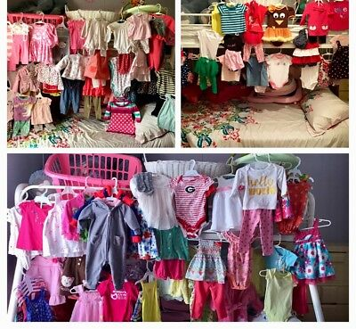 ab597f4dd EUC-BRAND NAME HUGE Lot Of Baby Girls Clothes 166 Pcs 6-9 Mos Little ...