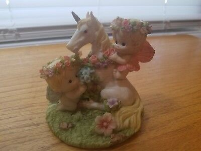 porcelain unicorn with curbs fairy's figurine