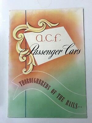 Acf Vintage Railroad Rare Train Brochure