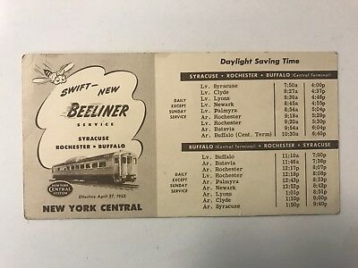 Beeliner Boston Albany New York Central System Vintage Railroad Train Brochure
