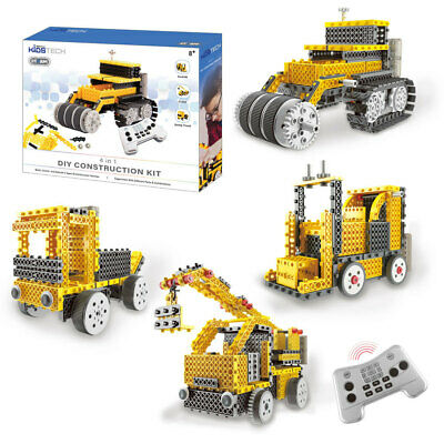 Vivitar DIY 4 in 1 RC Remote Control Construction Robot Kit Truck Kids Tech Toys