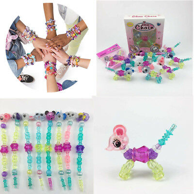 DIY Animal Twist string Bead Magic Tricks Kids Toys Gifts Mascot Bracelets
