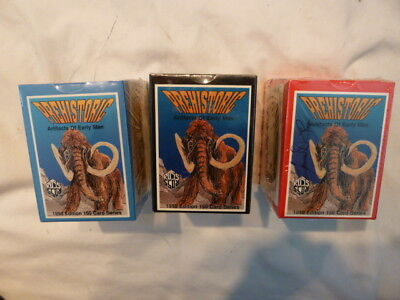 Rare 3 Box Sets Ross Prehistoric Artifacts of Early Man Cards Sealed 1994,95,96