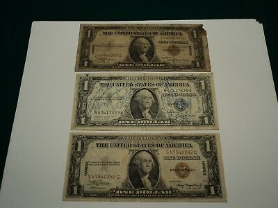 Hawaii Silver Certificate 1935 A (2) and 1957 A Silver Certificate Short Snorter