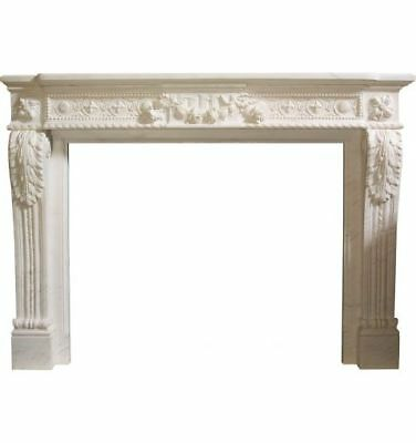 Louis XVI Mantle with Small Flowers, White
