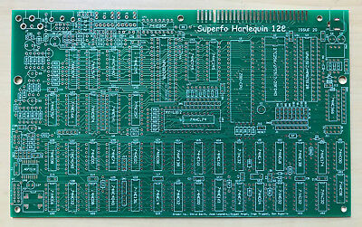 Superfo Harlequin 128k ZX Spectrum 128K, +2A clone PCB NEW version Issue 2G