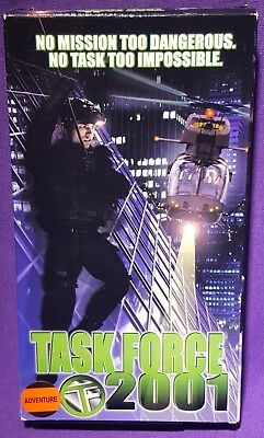 Task Force 2001 VHS 2000 RARE NOT ON DVD (SPY HIGH?) TESTED WORKS GREAT