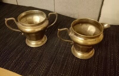Hallmarked sugar and milk silver containers