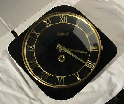 Very Beautiful Black and Gold Wall Clock from BAYARD with Key – Not working