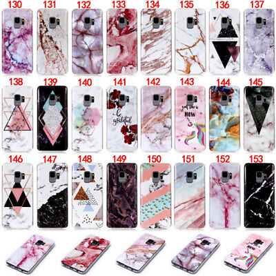 Marble Silicone Soft TPU Case Cover For Samsung S3 S4 S5 S6 S7 Edge S8 Plus M20