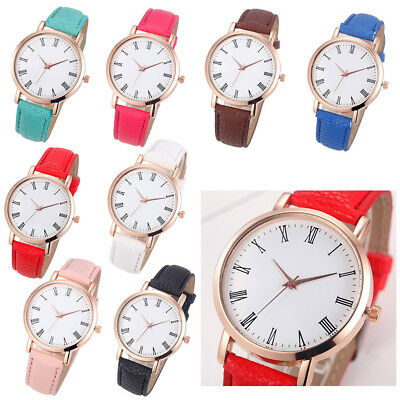 Fashion Women's Casual Quartz Leather Band New Strap Watches Analog Wrist Watch