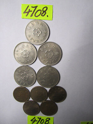10 x  CULLED coins from Taiwan      20  gms      Mar4708/1