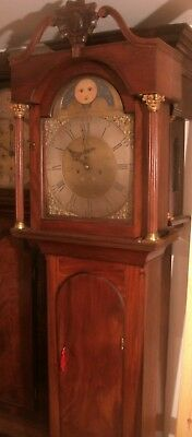 "Antique  "" Liverpool ""  8 Day Brass Dial Longcase / Grandfather Clock"