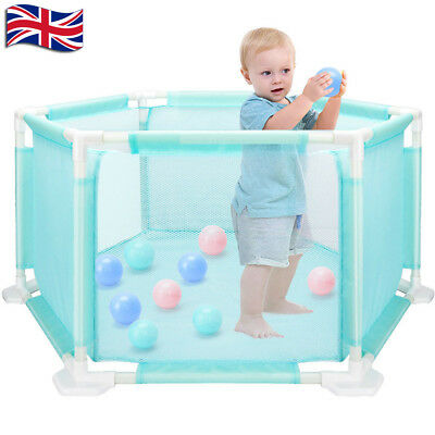 Foldable Baby Playpen Indoor& Outdoor With 10* Ocean Ball Washable Play Pen UK